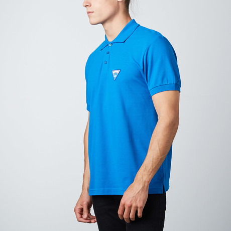 Wave Patch Polo // Blue