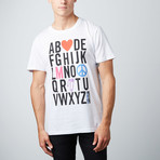 Alphabet Graphic Tee // White (S)