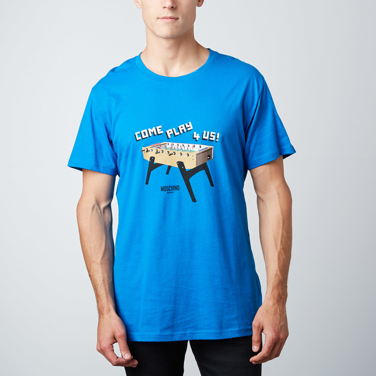 d456ae11 Moschino // Foozball Graphic Tee // Blue (XS) - Moschino - Touch of ...
