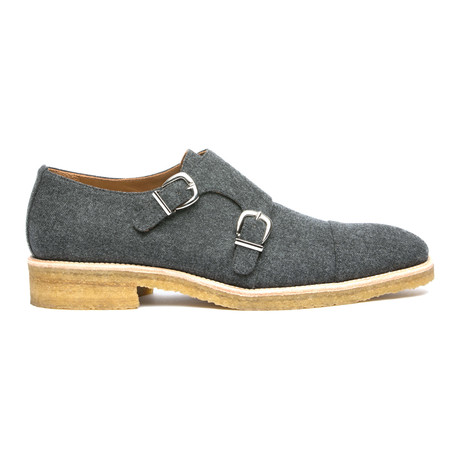 The Rook Double Monkstrap // Grey