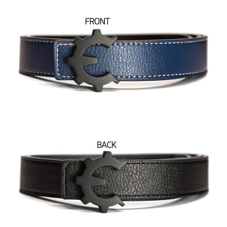 Matte Black Genii Belt // Blue (30)