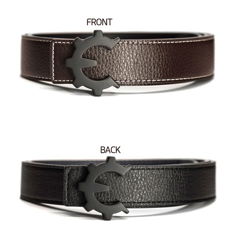 Matte Black Genii Belt // Brown (30)