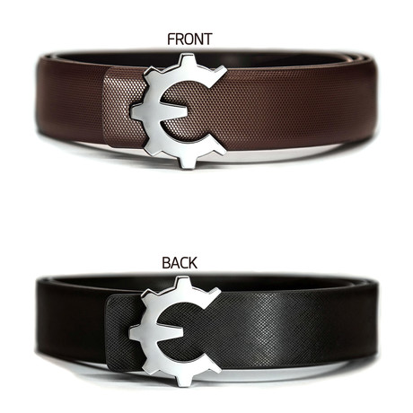 Polished Chrome Genii Belt // Brown Classic (30)