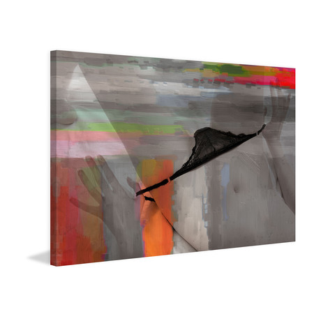 Black Panties Painting Print // Wrapped Canvas