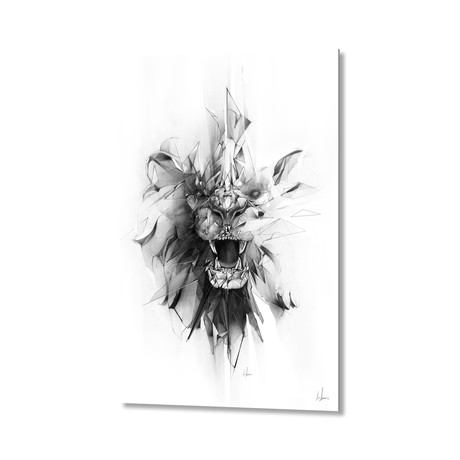 Stone Lion // Aluminum Print
