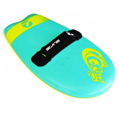Grom Soft Top Handboard // Turquoise + Electric Lemon