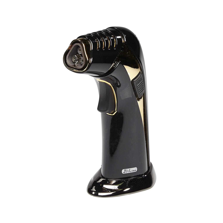 Jetline G5000 Triple Table Lighter Black Cigars