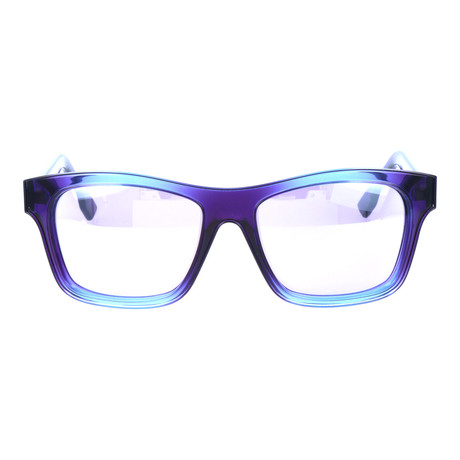 Clear Gradient Fabric Texture Square Wayfarer // Blue + Denim