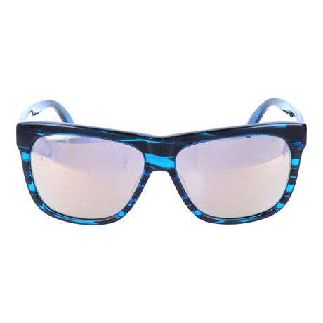 Thick Rim Clear Streak Square Wayfarer // Royal + Black