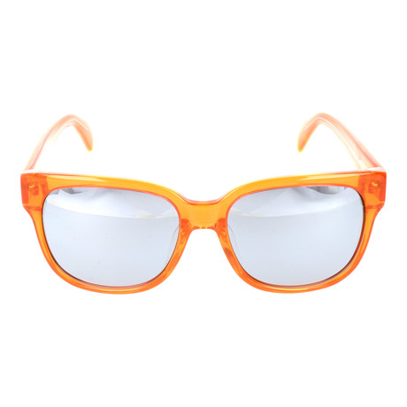 Thick Rim Clear Square Wayfarer // Orange