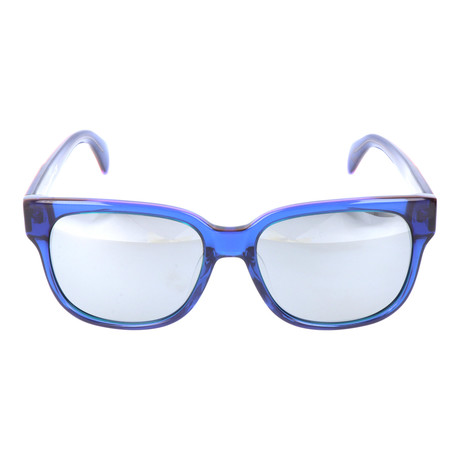 Thick Rim Clear Square Wayfarer // Royal