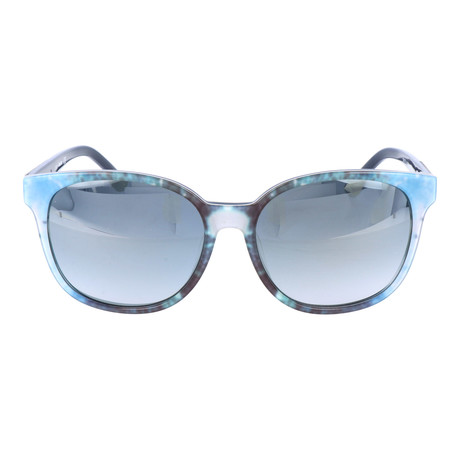 Watercolor Blocked Round Wayfarer // Blue + Teal