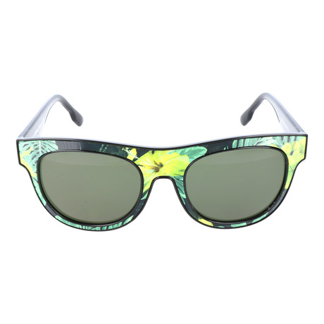 Tropical Print Square Wayfarer // Green + Yellow + Black