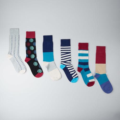 Dazed Crescent Crew Socks // Pack of 6