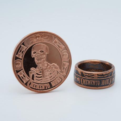 Memento Mori The Last Laugh Coin Ring // Copper