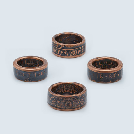 Ring Collection // Copper // Set Of 4
