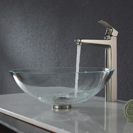 Virtus Single Hole Single-Handle Vessel Bathroom Faucet