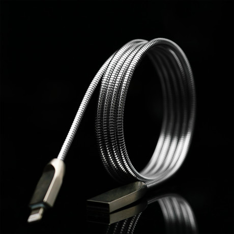 THOR Charging Cable // Silver (Apple Lightning)