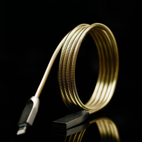 THOR Charging Cable // Gold (Apple Lightning)