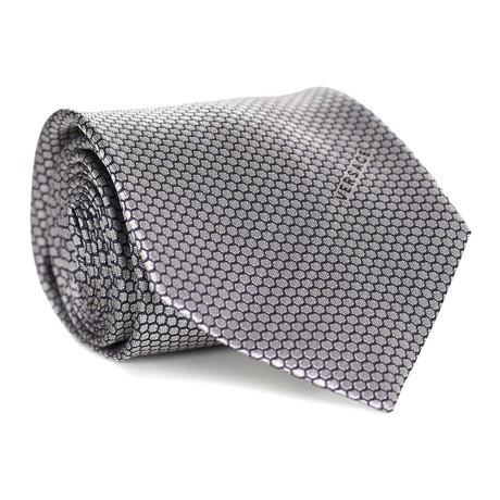 Honeycomb Tie // Navy + White