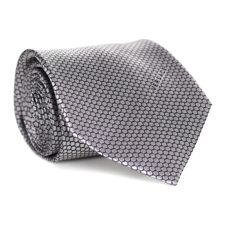 Honeycomb Tie // Navy + White