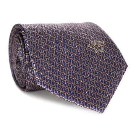 Dizzy Rectangles Tie // Blue + Yellow