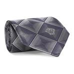 Dizzy Squares Tie // Charcoal + Grey