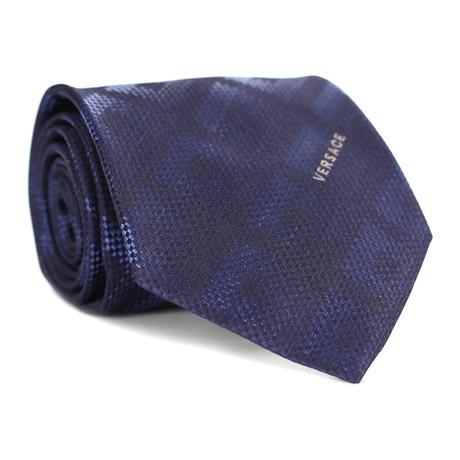 Square Tile Tie // Blue + Navy