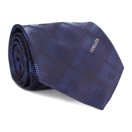 Square Tile Tie // Blue + Navy