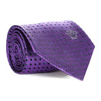 Geometric Squares Tie // Purple + Black