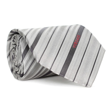 Multi Stripe Tie // Grey + Charcoal