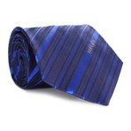 Multi Stripe Tie // Navy + Blue