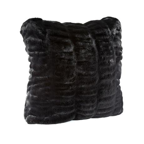 """Couture Faux Fur Pillow // Onyx Mink (18""""L x 18""""W)"""
