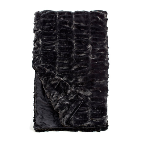 Couture Faux Fur Throw // Onyx Mink