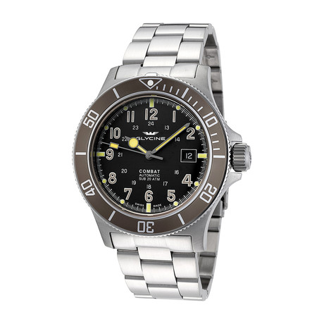 Glycine Combat Sub Automatic // 3908.191AT.GD1.MB