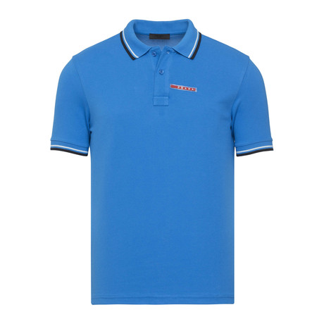 Contrast Stripe Trimmed Polo // Turquoise (S)