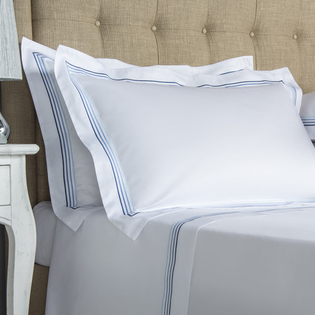 Cruise // White + Blue (Cal King Sheet Set)