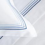 Cruise // White + Blue (Euro Sham)