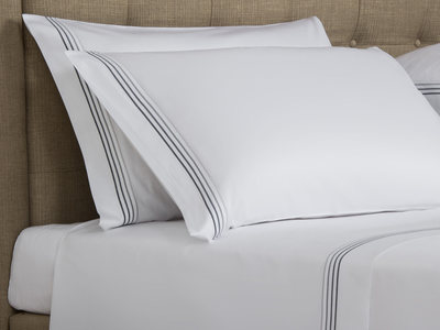 Photo of Frette Luxurious Heritage Bedding Cruise // White + Grey (Euro Sham) by Touch Of Modern