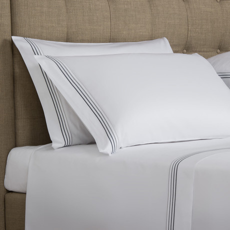 Cruise // White + Grey (Standard Pillowcase)