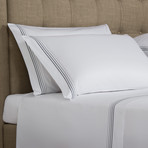 Cruise // White + Grey (Cal King Sheet Set)