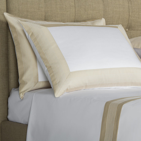 Porto // White + Sandstone (Cal King Sheet Set)