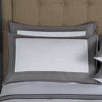 Porto // White + Slate Grey (Cal King Sheet Set)