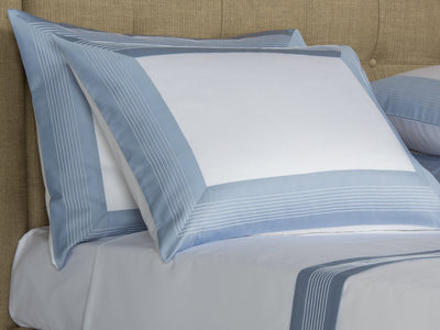 Photo of Frette Luxurious Heritage Bedding Porto // White + Blue (Cal King Sheet Set) by Touch Of Modern