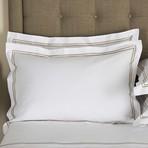 Hotel Classic // White + Khaki (Euro Sham)