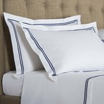 Hotel Classic // White + Navy (Standard Pillowcase // Set of 2)