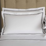 Hotel Classic // White + Slate Grey (Euro Sham)