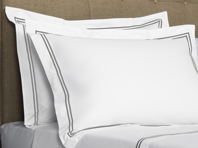 Photo of Frette Luxurious Heritage Bedding Hotel Classic // White + Ash Grey (Euro Sham) by Touch Of Modern