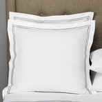 Hotel Classic // White + Ash Grey (Euro Sham)