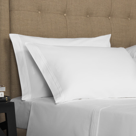 Hotel Classic // White + White (King Pillowcase // Set of 2)